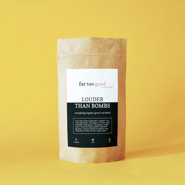 ceai verde energizant organic cu matcha si guarana