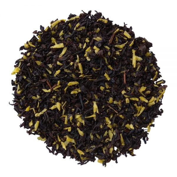 ceai negru organic cu fulgi de cocos