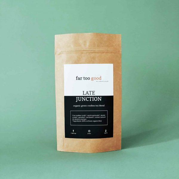 ceai rooibos organic verde cu merisoare