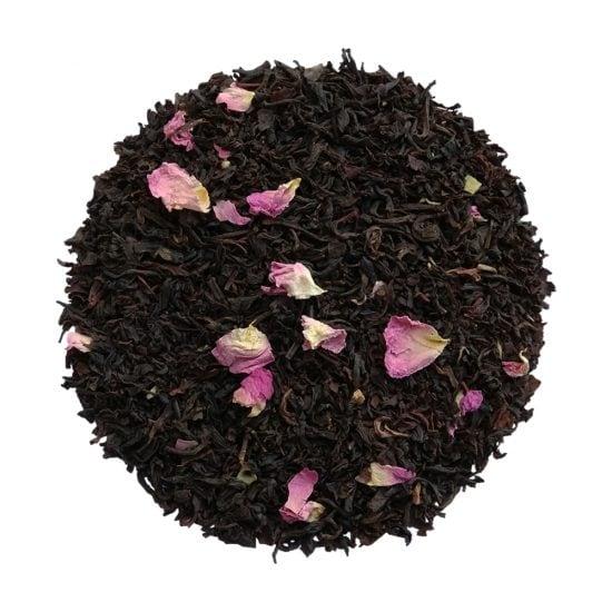 ceai negru organic cu petale de trandafir