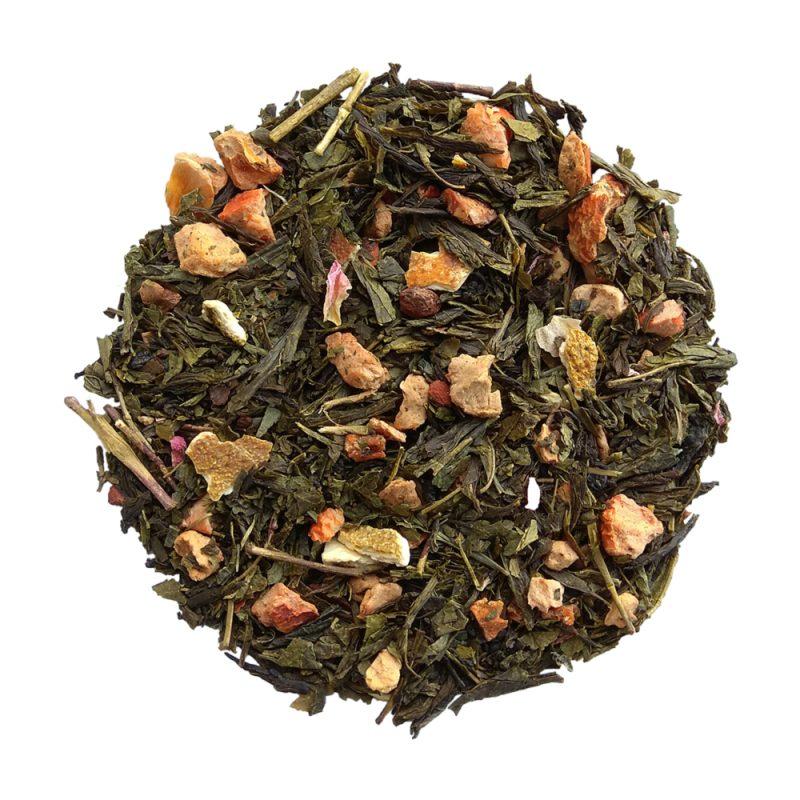 ceai verde cu portocale si scortisoara