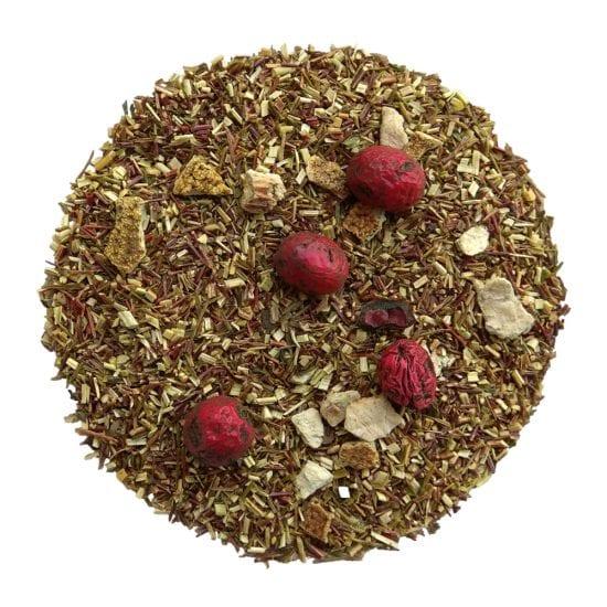 ceai rooibos verde organic cu merisoare